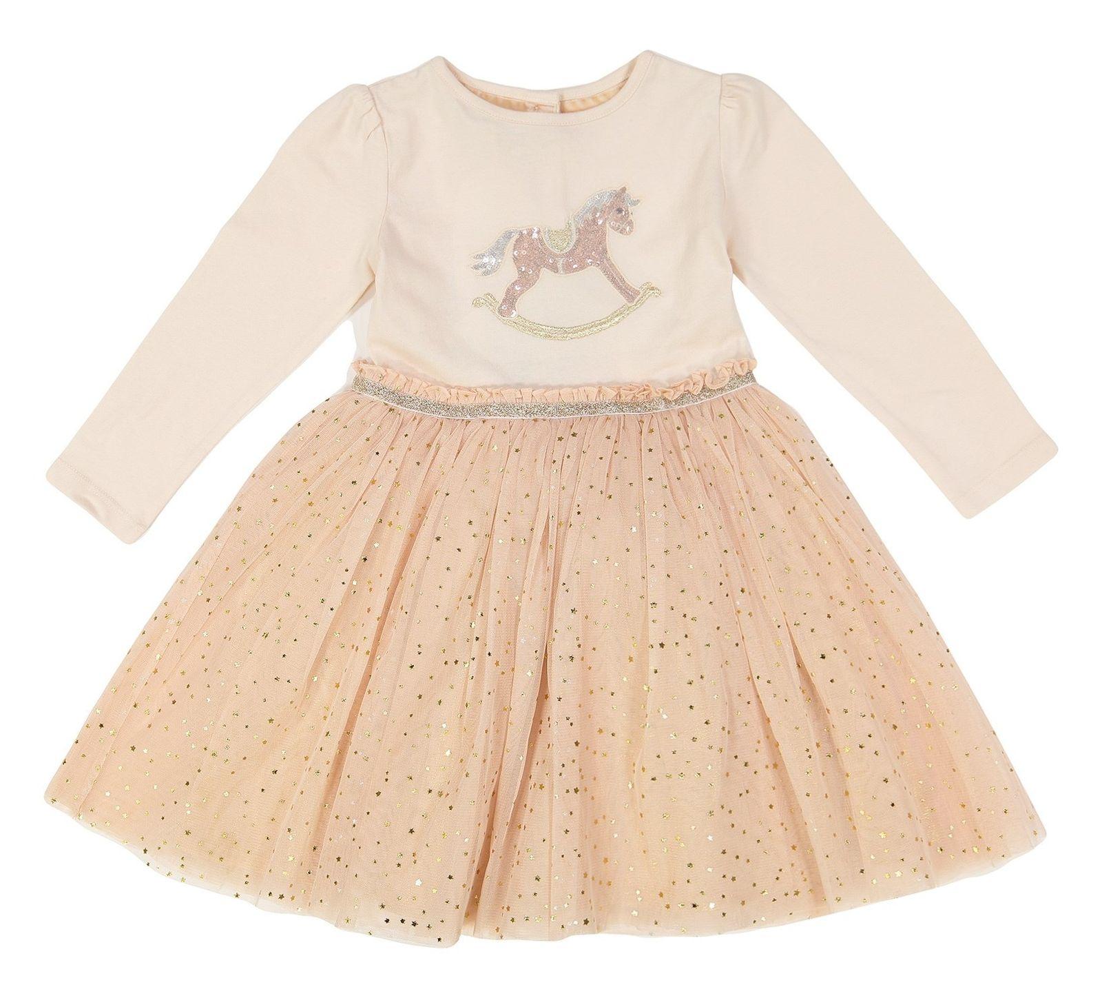 پیراهن نخی نوزادی دخترانه - مانسون چیلدرن - صورتي  - 1