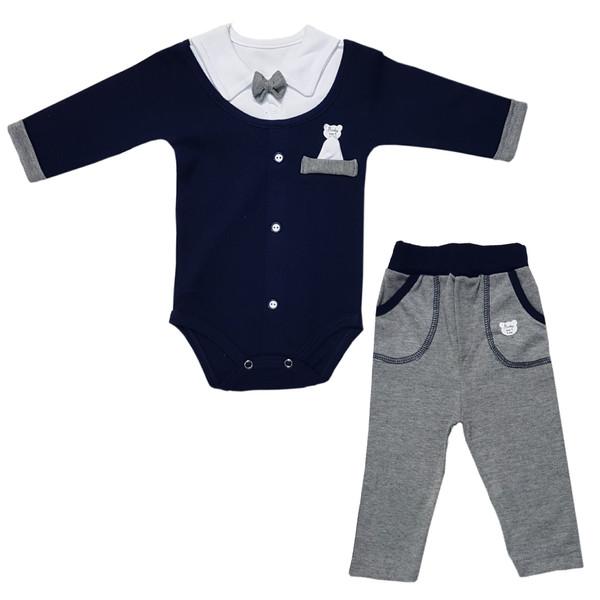 ست 2 تکه لباس نوزادی پسرانه بارلی مدل کارن