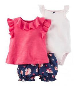 ست سه تکه لباس نوزادی دخترانه کارترز مدل 013