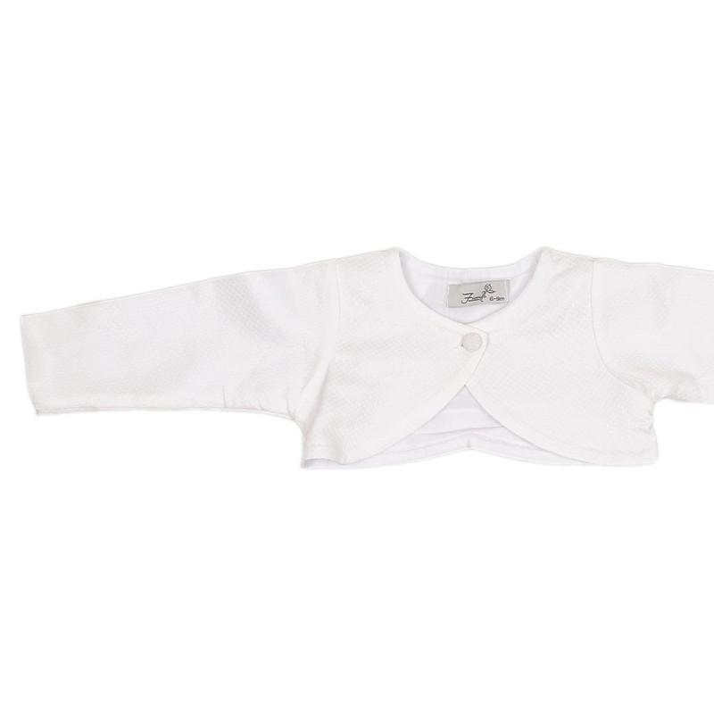ست کت و سارافون نوزادی دخترانه فیورلا مدل 4846