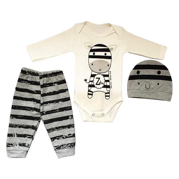 ست 3 تکه لباس نوزادی مدل mini zebra