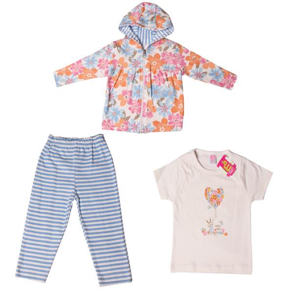 ست 3 تکه لباس نوزادی کد 138
