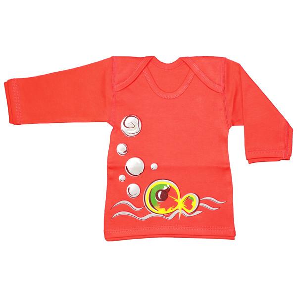 تی شرت آستین بلند نوزادی دولوو مدل fish