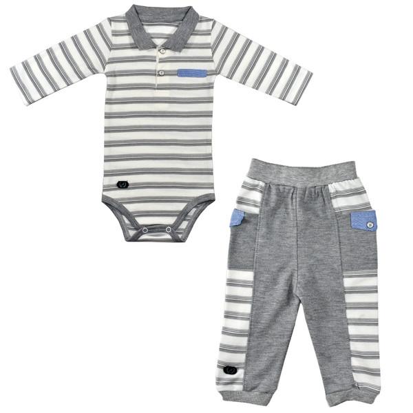 ست 2 تکه لباس نوزادی نیروان طرح 220 کد 2