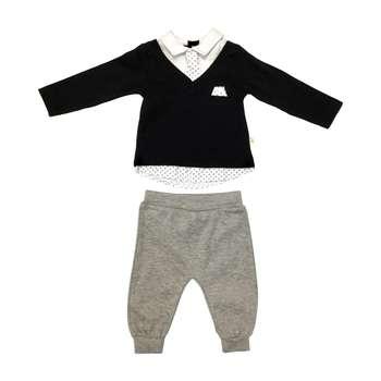ست دو تکه لباس نوزادی مای میو کد L2343.6