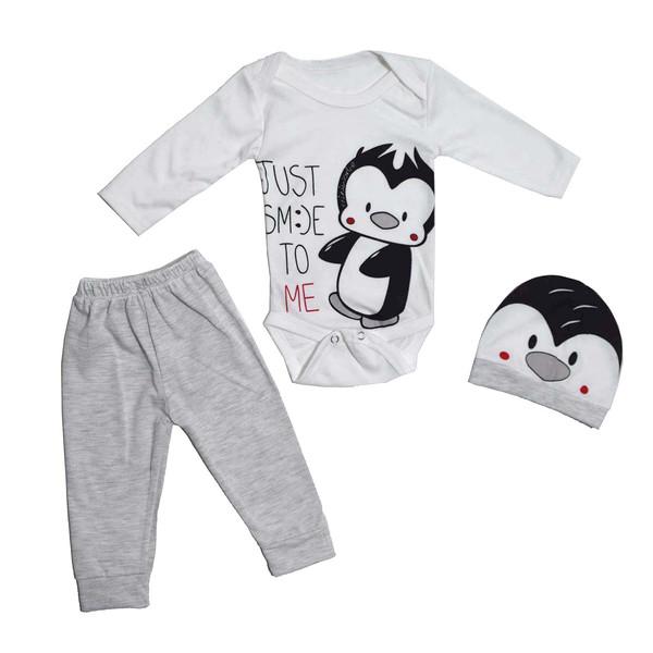 ست 3 تکه لباس نوزادی پسرانه مدل Pangu/07