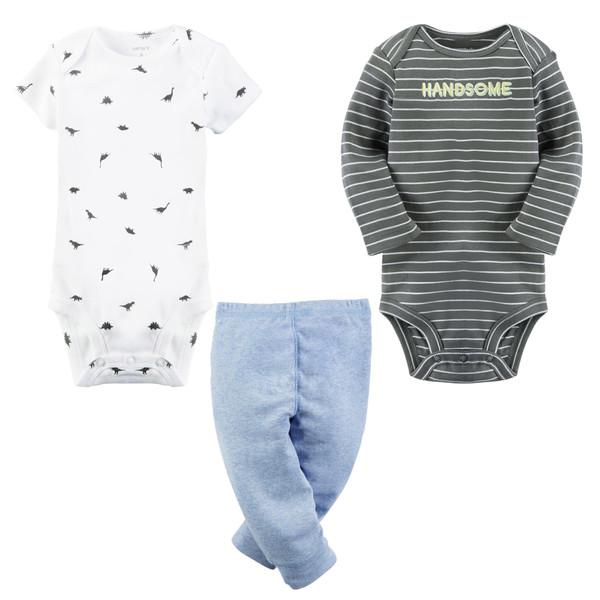 ست 3 تکه لباس نوزادی پسرانه کارترز کد 908