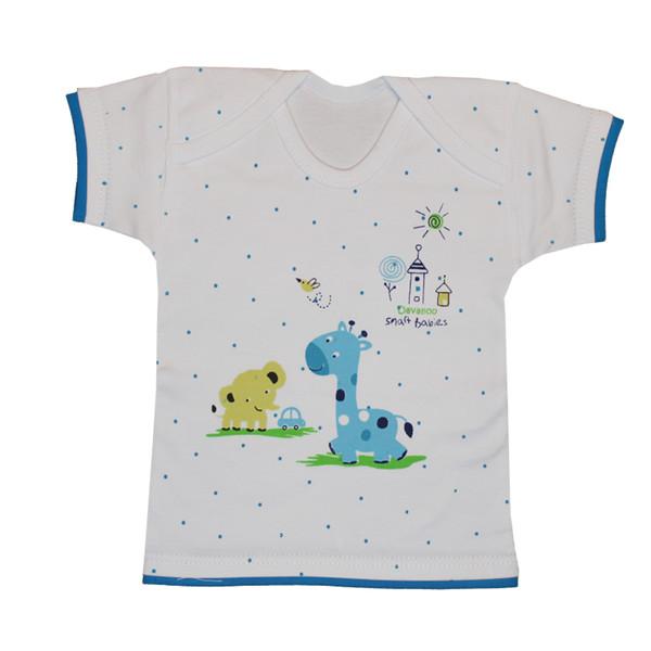 تی شرت  نوزادی پسرانه دولوو مدل giraffe