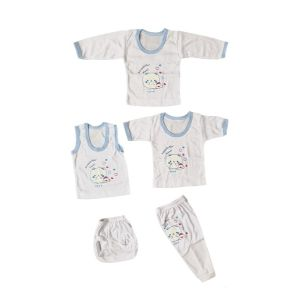 ست 5 تکه لباس نوزاد طرح خرس کد SABZ234