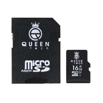 کارت حافظه microSDHC کوئین تک 300X کلاس 10 استاندارد UHS-I U1 سرعت 45MBps ظرفیت 16 گیگابایت به همراه آداپتور SD