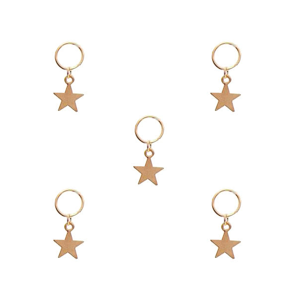 حلقه تزیینی مو طرح ستاره کد ST 01 بسته 5 عددی