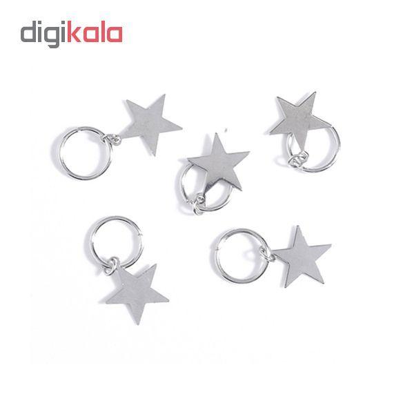 حلقه تزیینی مو طرح ستاره کد ST 01 بسته 5 عددی main 1 1