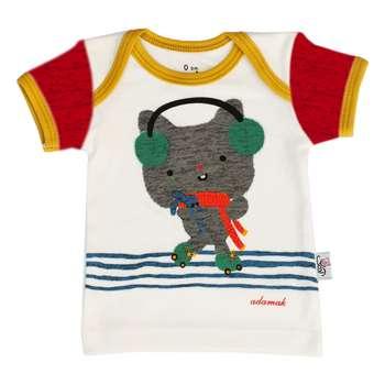 تیشرت آستین کوتاه نوزادی آدمک طرح گربه بازیگوش