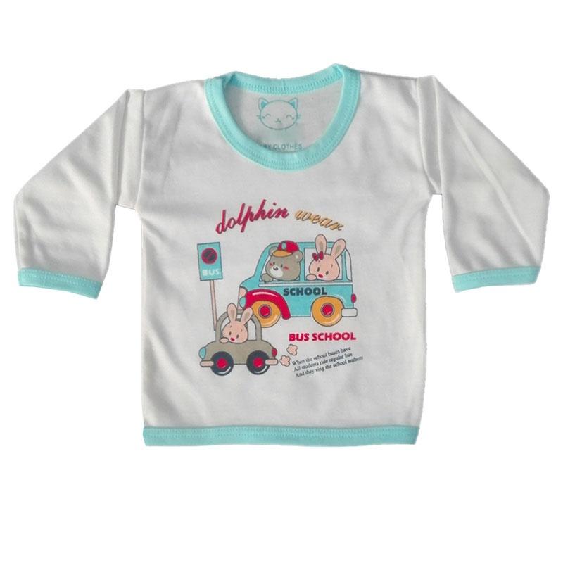 تی شرت آستین بلند نوزادی مدل 301