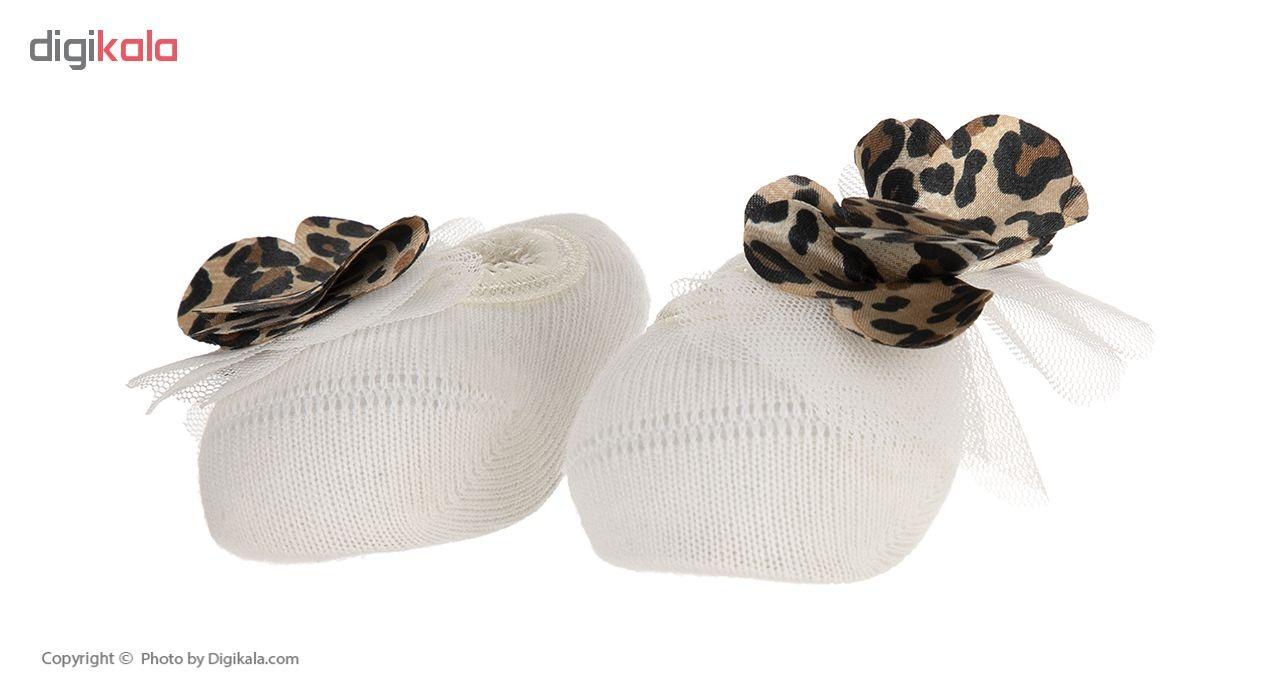 ست جوراب و هد بند نوزادی دخترانه کاتامینو کد 212101