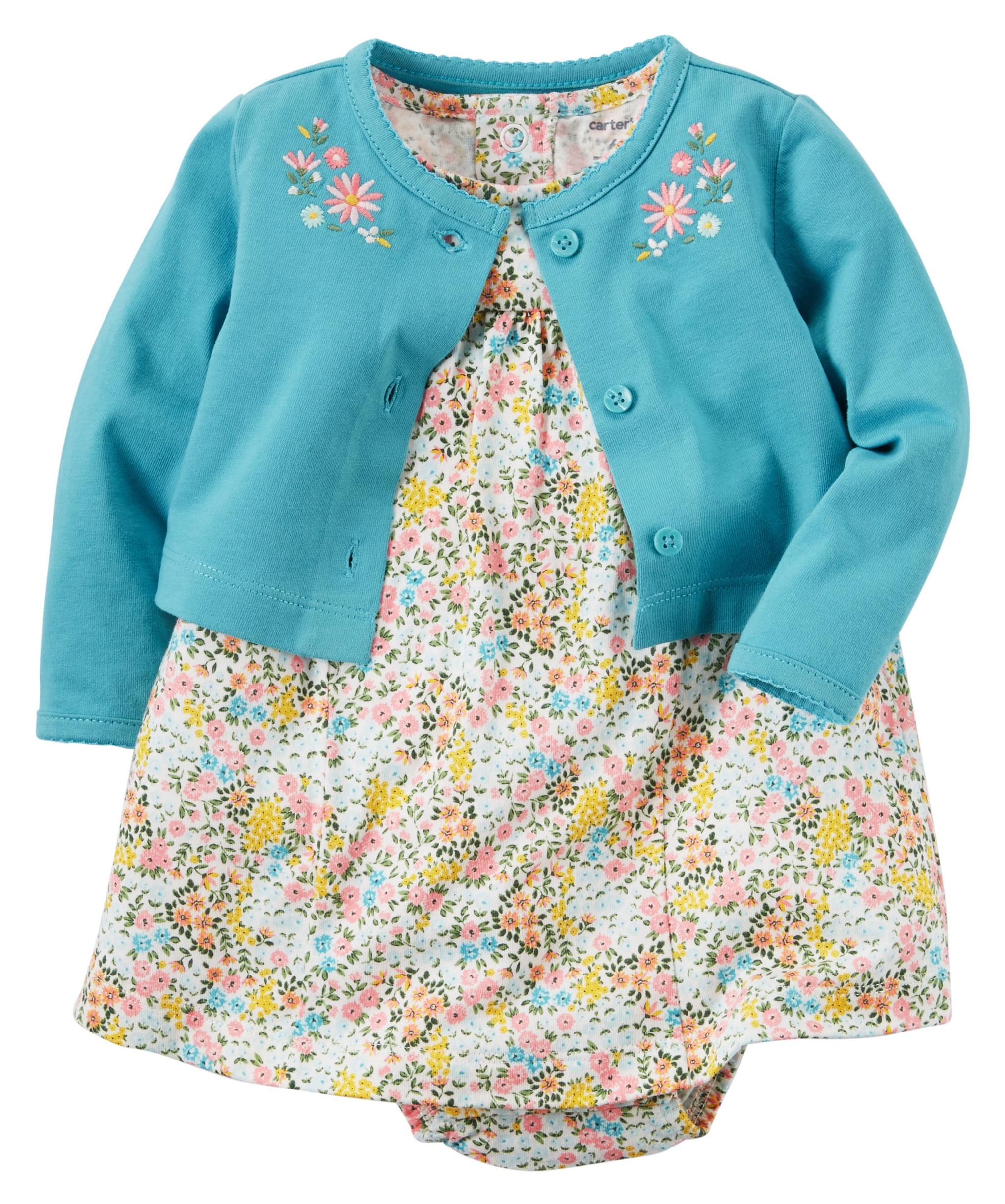 ست 2 تکه لباس نوزادی دخترانه کارترز مدل 934