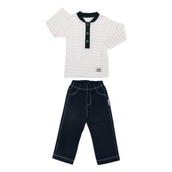 ست تی شرت و شلوار نوزادی پسرانه آدمک مدل 1155011 کد 13