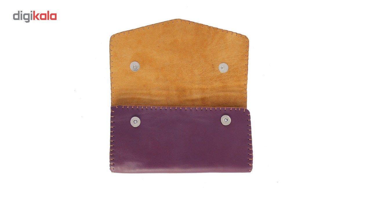کیف دستی چرم طبیعی گالری راد طرح ماهور -  - 1
