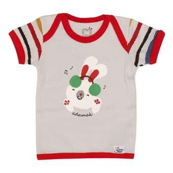تی شرت آستین کوتاه نوزاد آدمک طرح DJ