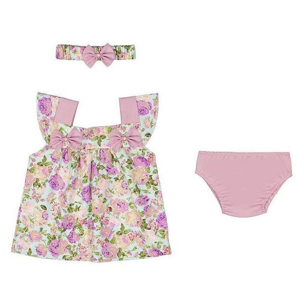 ست 3 تکه لباس نوزادی کد 02