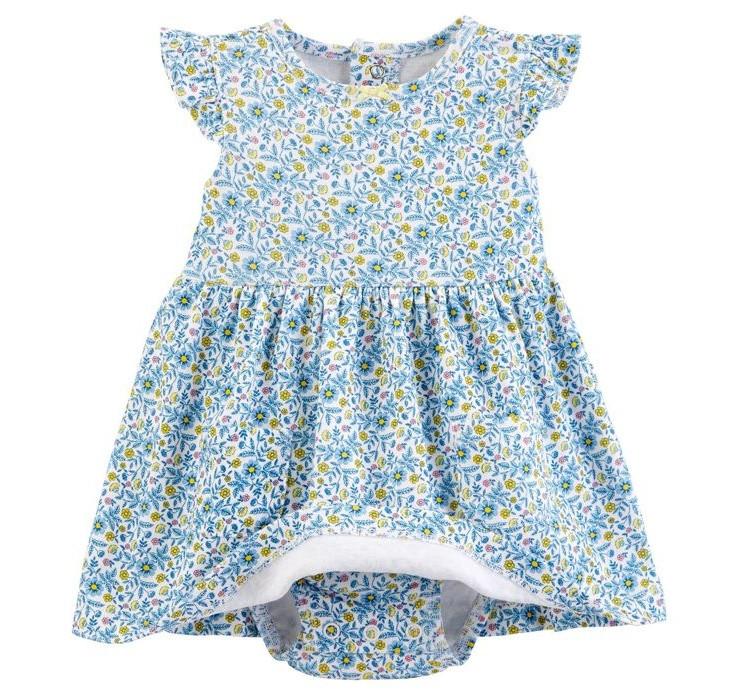 ست کت و پیراهن نوزادی دخترانه کارترز کد 982