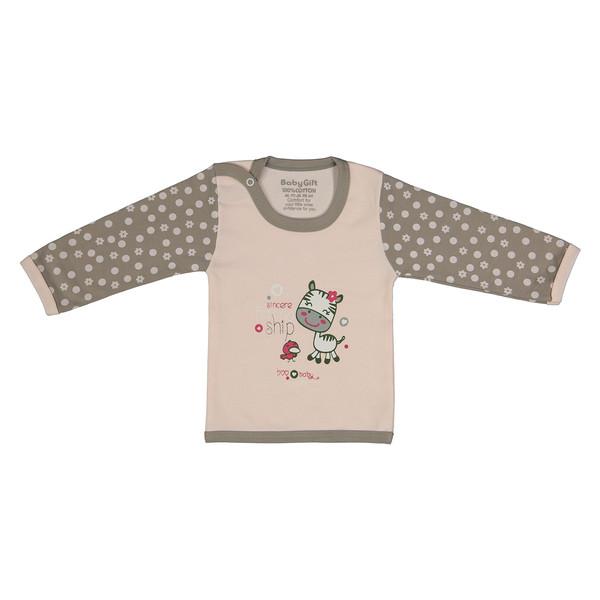 تی شرت نوزادی دخترانه بی بی گیفت طرح گاو و جوجه