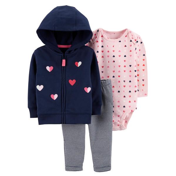 ست 3 تکه لباس نوزادی دخترانه کارترز کد 988