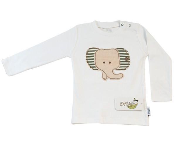 تیشرت آستین بلند نوزادی اونیکس طرح فیل کد 06