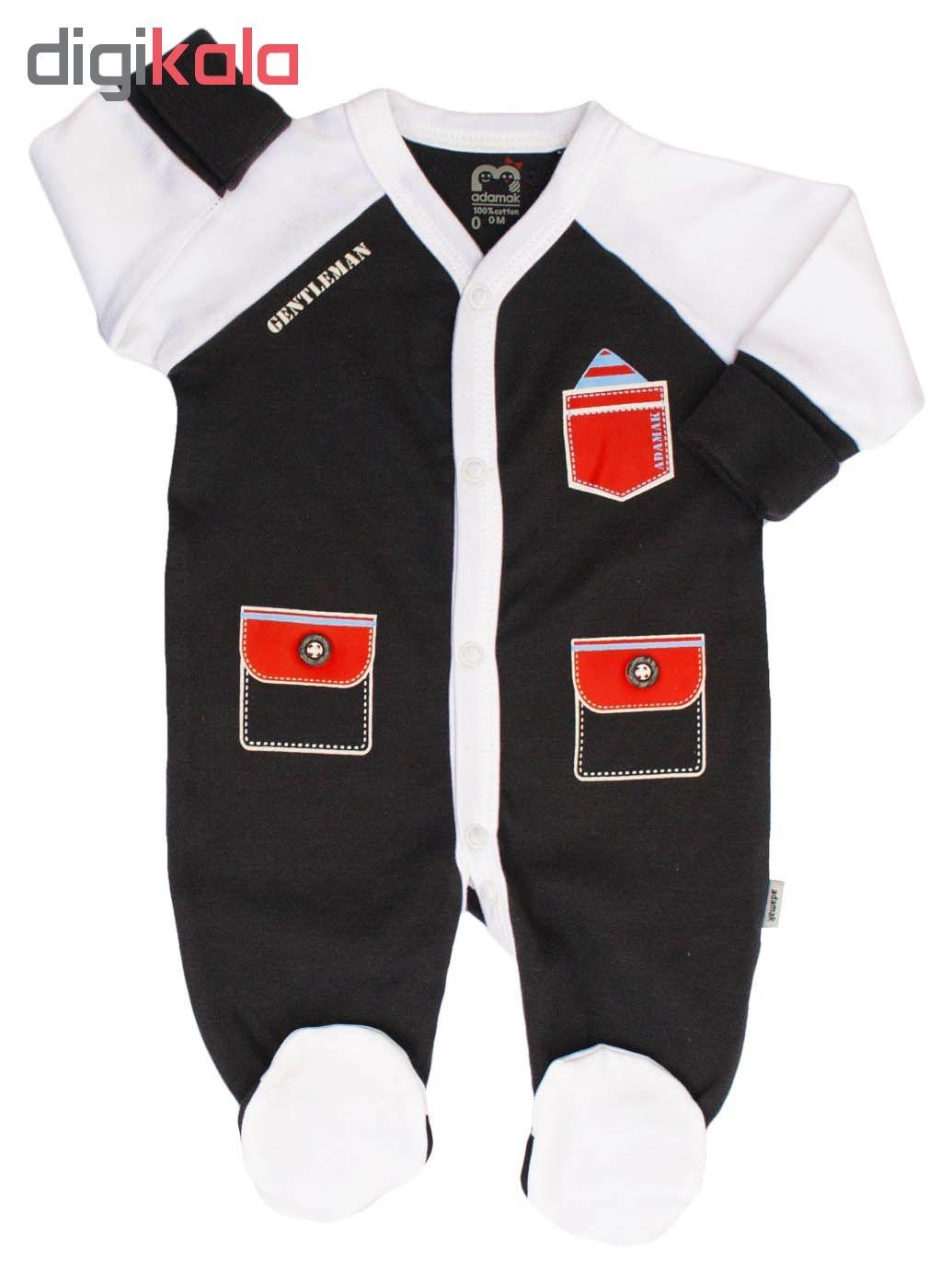 ست 3 تکه لباس نوزادی آدمک طرح جنتلمن کد 10
