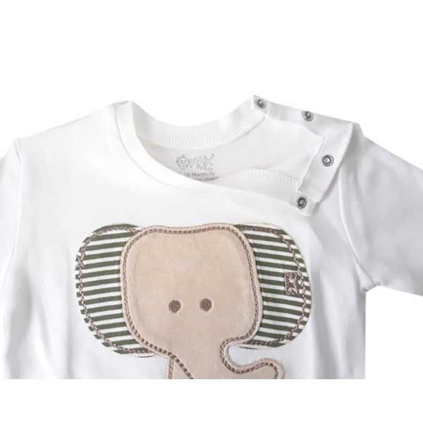 تیشرت آستین کوتاه نوزاد اونیکس طرح فیل کد 017