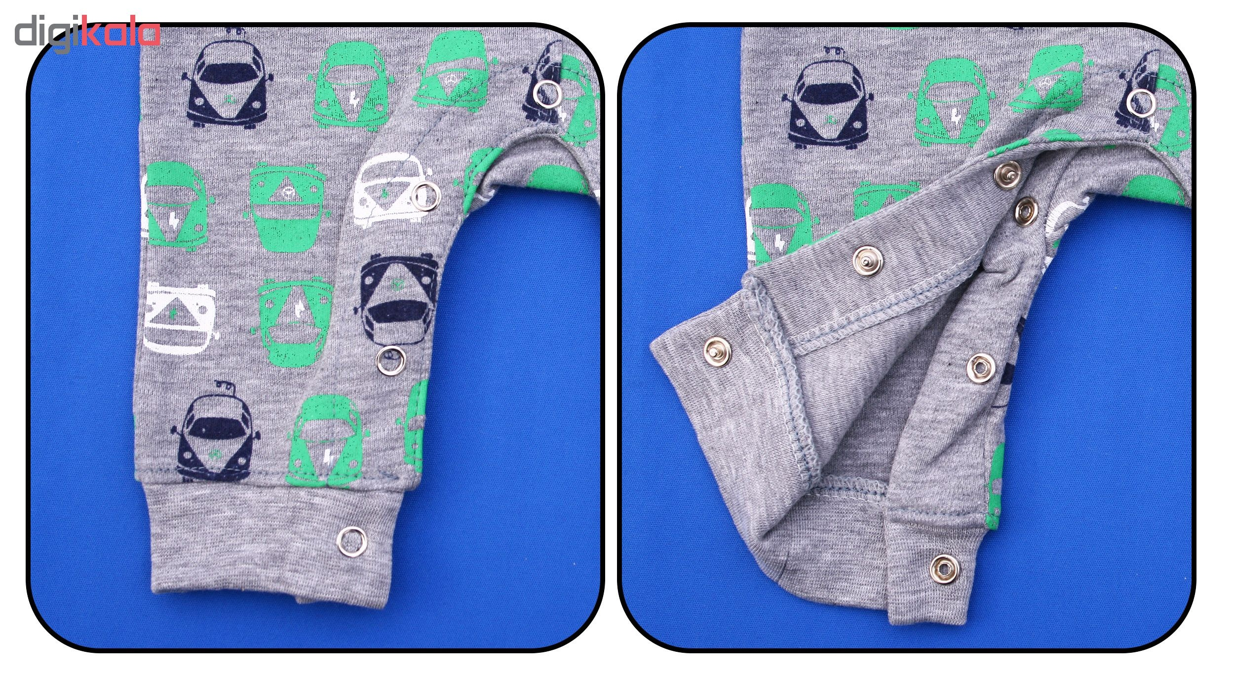 سرهمی نوزادی پسرانه کد SM001 رنگ طوسی