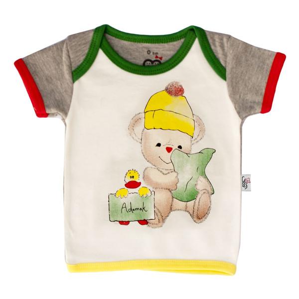 تی شرت آستین کوتاه نوزاد آدمک طرح اردک