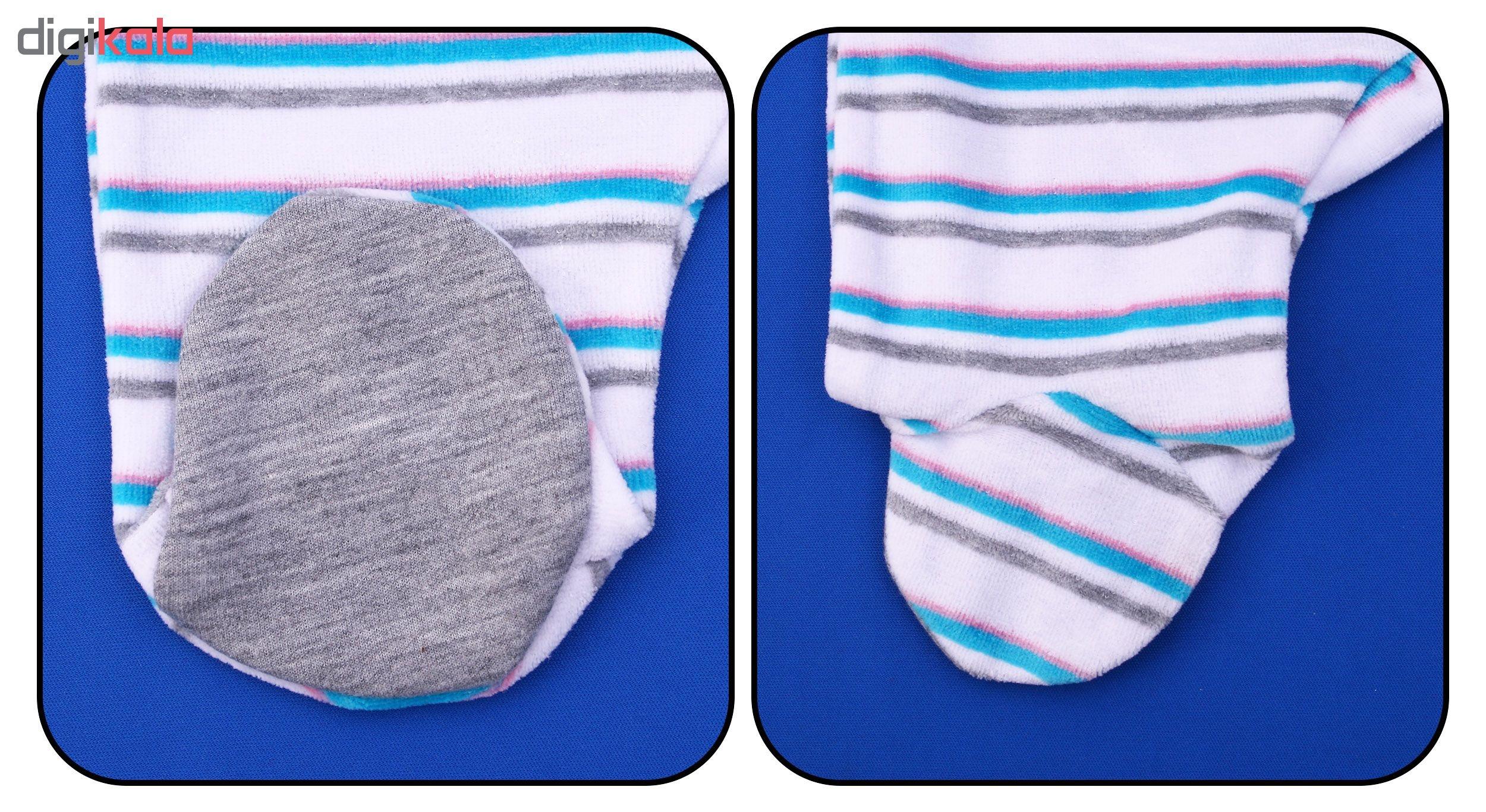 ست سرهمی و کلاه نوزادی کد LV004 رنگ آبی