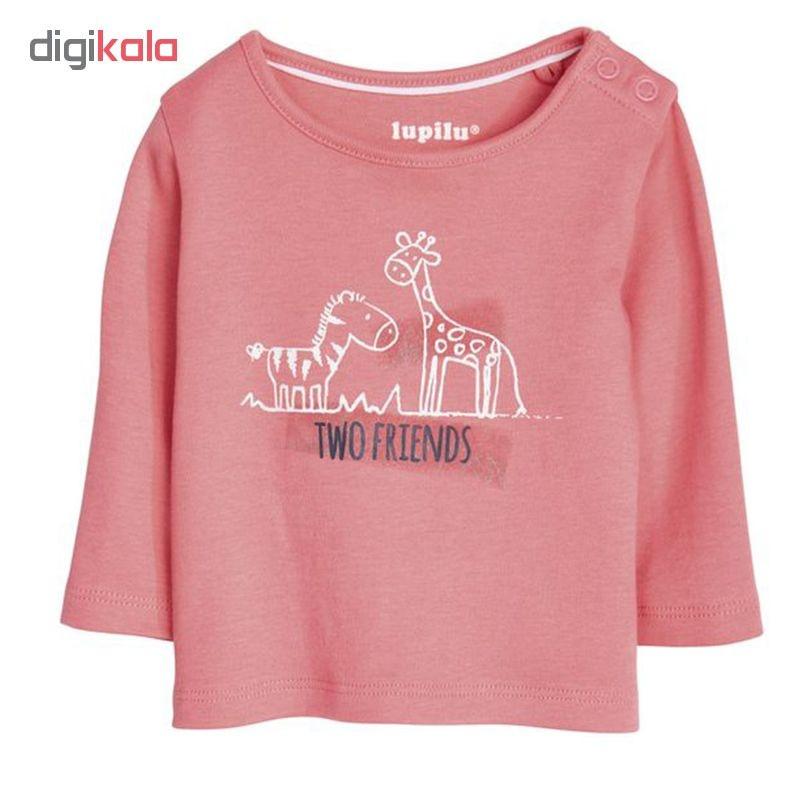 تی شرت آستین بلند نوزادی لوپیلو کد LP133 مجموعه 3 عددی