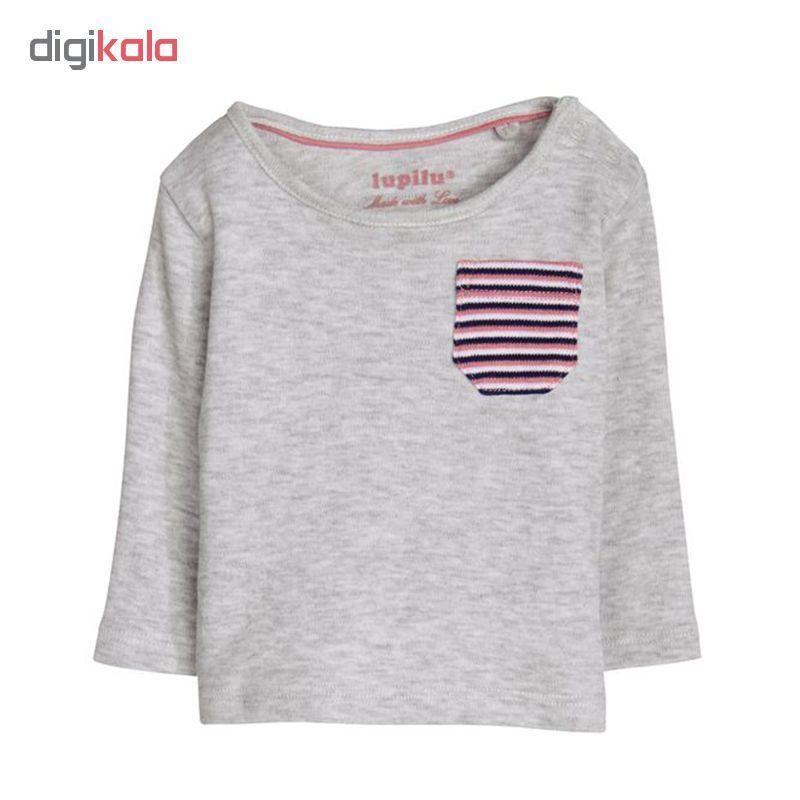 تی شرت آستین بلند نوزادی لوپیلو کد LP133 مجموعه 3 عددی main 1 4