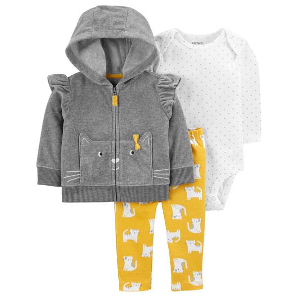 ست 3 تکه لباس نوزادی دخترانه کارترز کد 1132