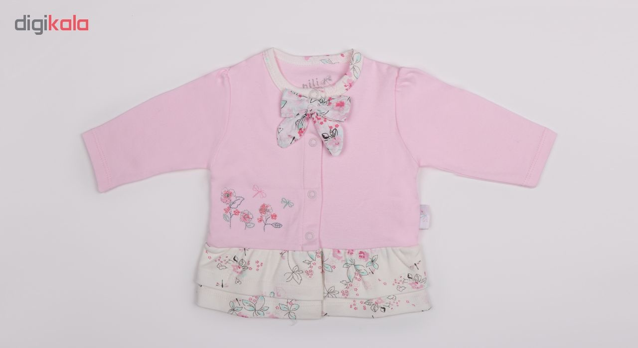شومیز نوزادی دخترانه نیلی مدل لیانا کد 08019
