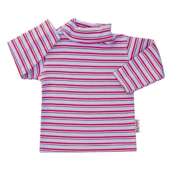 تی شرت آستین بلند نوزاد آدمک طرح راه راه کد 01-144401