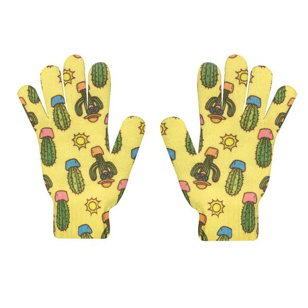 دستکش بافتنی زنانه طرح کاکتوس کد 60