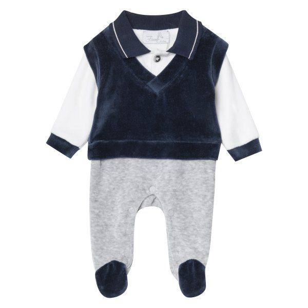 سرهمی نوزادی پسرانه فیورلا مدل مانا کد 2989
