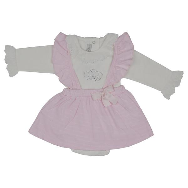 پیراهن نوزادی دخترانه ایندیگو کد 29727