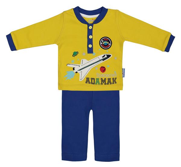 ست تی شرت و شلوار نوزادی آدمک مدل 2171101-15