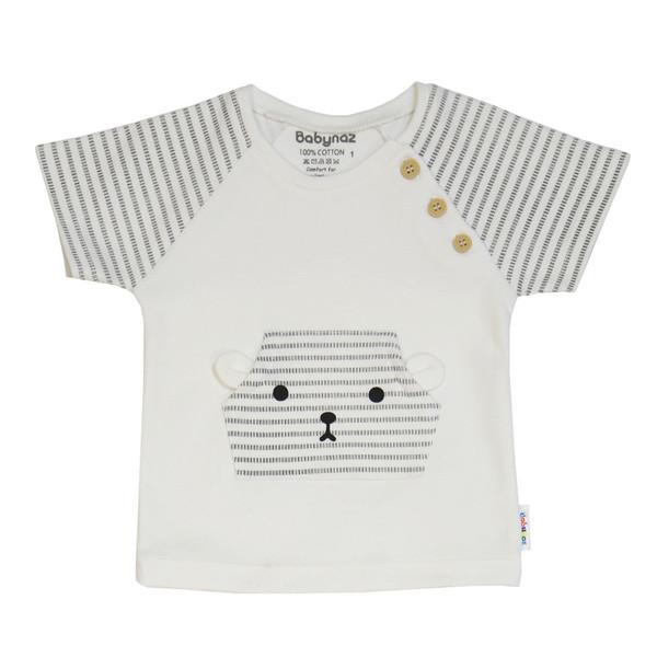 تی شرت آستین کوتاه نوزاد بی بی ناز کد 346