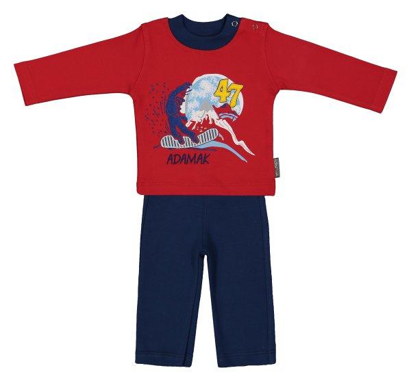ست تی شرت و شلوار نوزادی پسرانه آدمک مدل 2171100-72