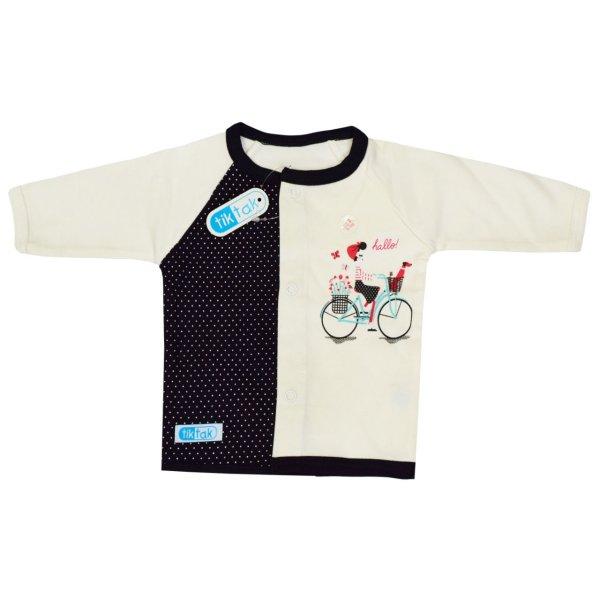 بلوز نوزاد تیک تاک طرح دوچرخه کد 08