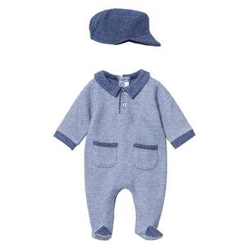 سرهمی نوزادی پسرانه فیورلا مدل پرشان کد 2969