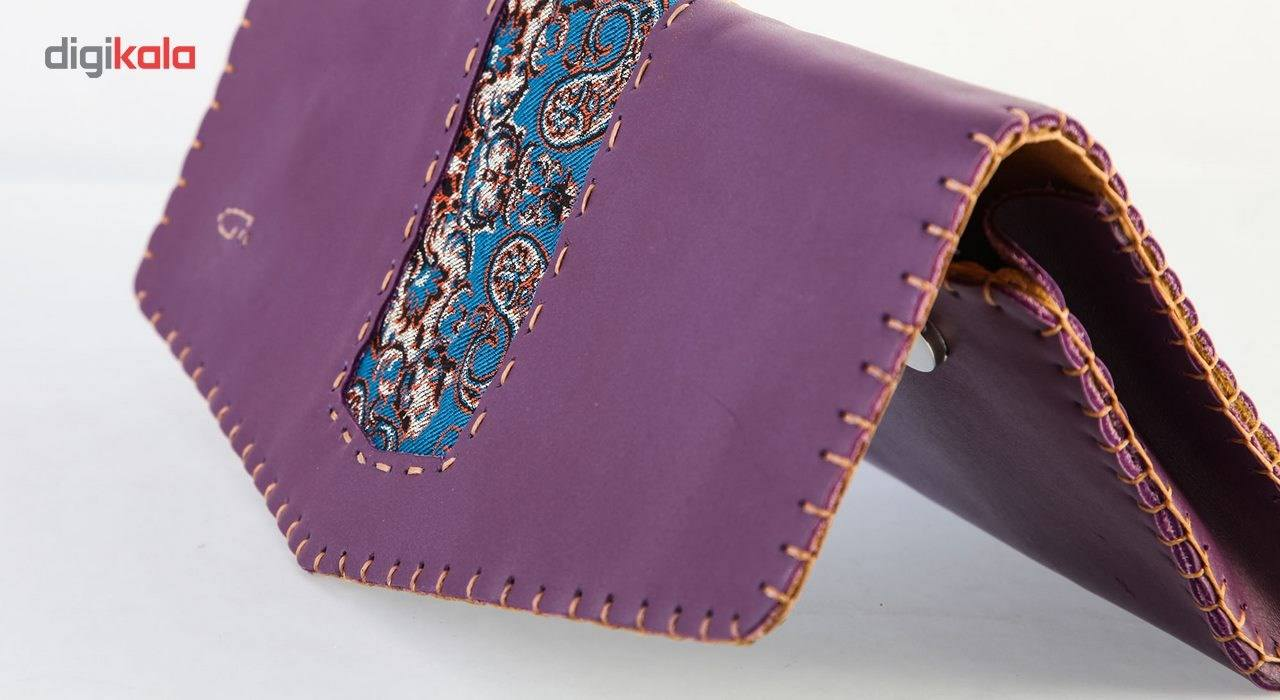 کیف دستی چرم طبیعی گالری راد طرح ماهور -  - 2