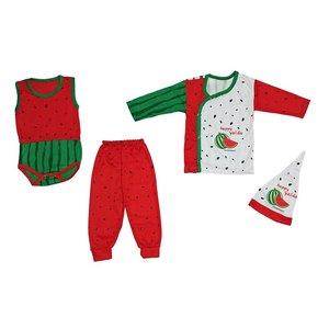ست 4 تکه لباس نوزادی طرح یلدا کد 5555