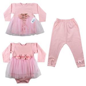 ست 3 تکه لباس نوزادی نیروان کد Q-3