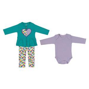 ست 3 تکه نوزادی دخترانه آدمک مدل 2171104-47